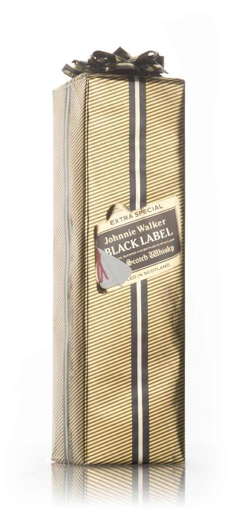 Johnnie Walker Black Label (Gift Wrapped Box) - 1980s Blended Whisky
