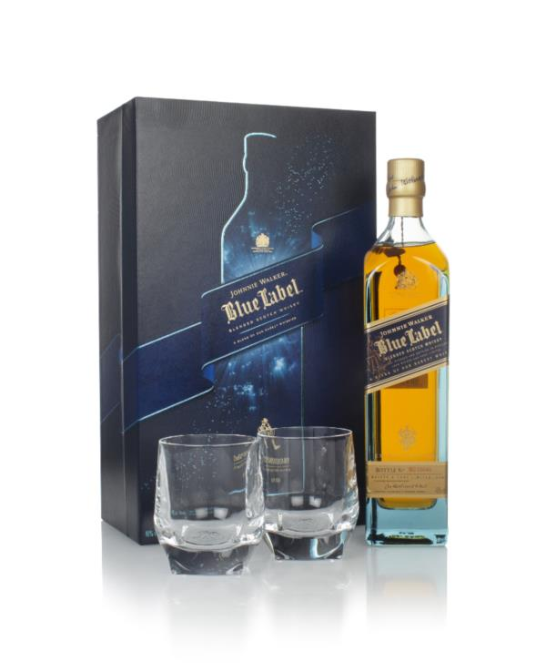 Johnnie Walker Blue Label Gift Pack with 2x Glasses Blended Whisky