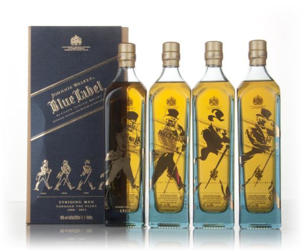Johnnie Walker Blue Label Striding Man Edition Set (4x20cl) Blended Whisky