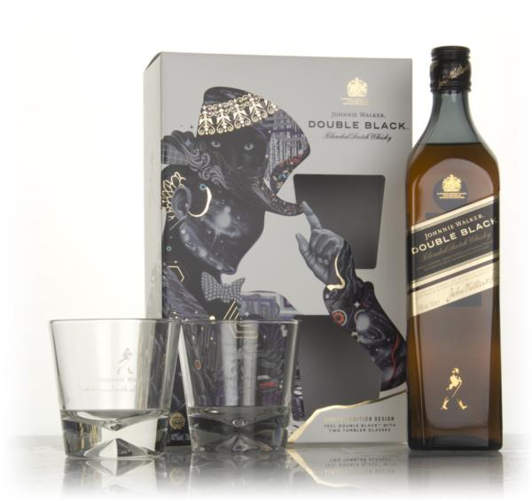 Johnnie Walker Double Black Gift Pack with 2x Glasses (Tristan Eaton E Blended Whisky