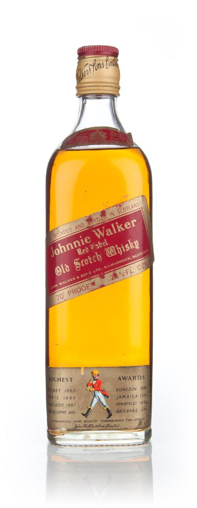 Johnnie Walker Red Label 75cl - 1970s Blended Whisky