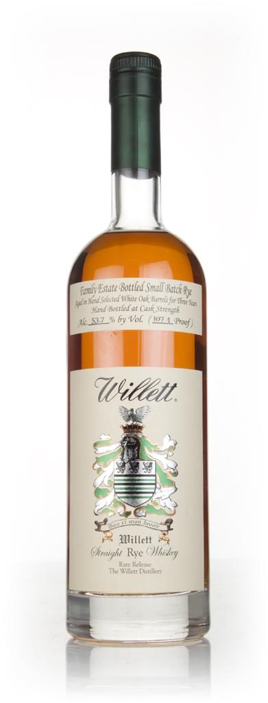 Willetts 3 Year Old Family Estate Bottled Rye Whiskey