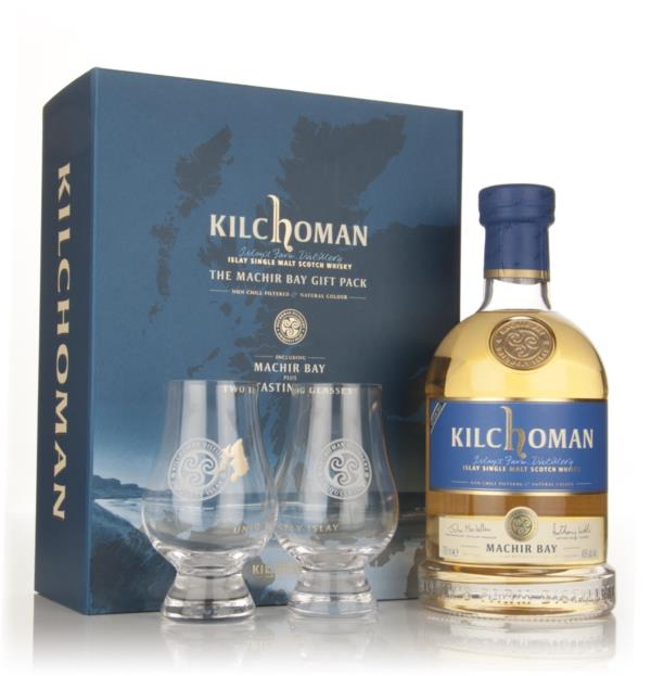Kilchoman Machir Bay 2013 Release Gift Pack with 2x Glasses Single Malt Whisky