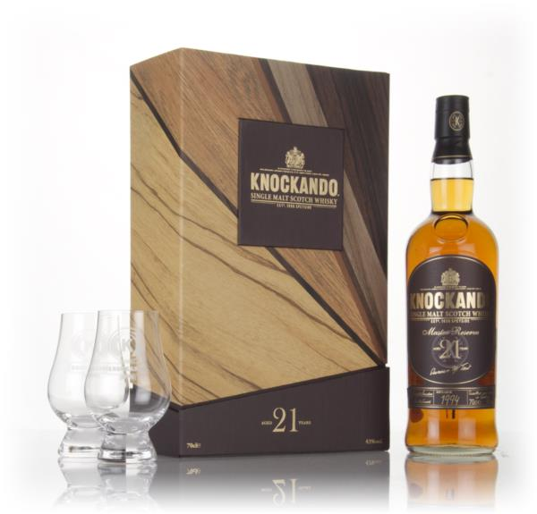 Knockando 21 Year Old 1994 Master Reserve Gift Set with 2x Glasses Single Malt Whisky