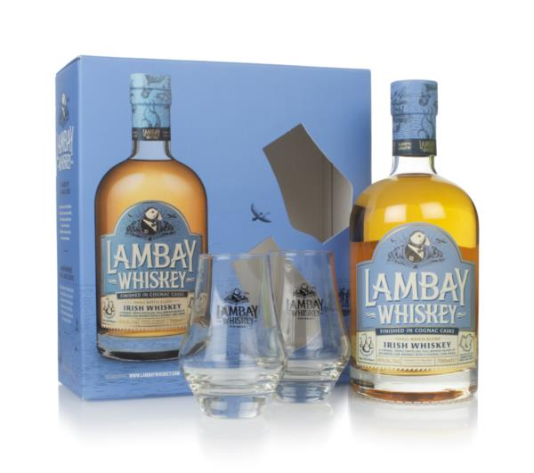Lambay Small Batch Gift Pack with 2x Glasses Blended Whiskey