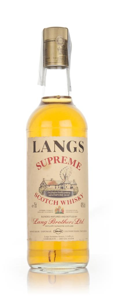 Langs Supreme Blended Scotch Whisky 1970s Blended Whisky