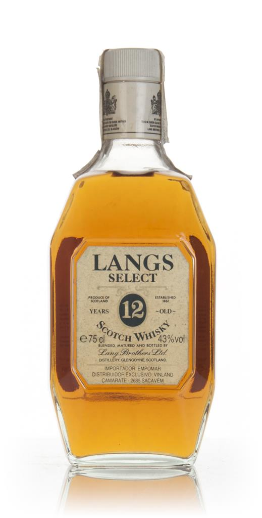 Langs Select 12 Year Old - 1970s Blended Whisky