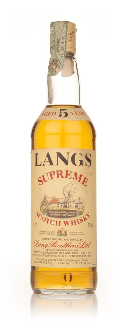 Langs Supreme 5 Year Old Blended Scotch Whisky - 1980s Blended Whisky