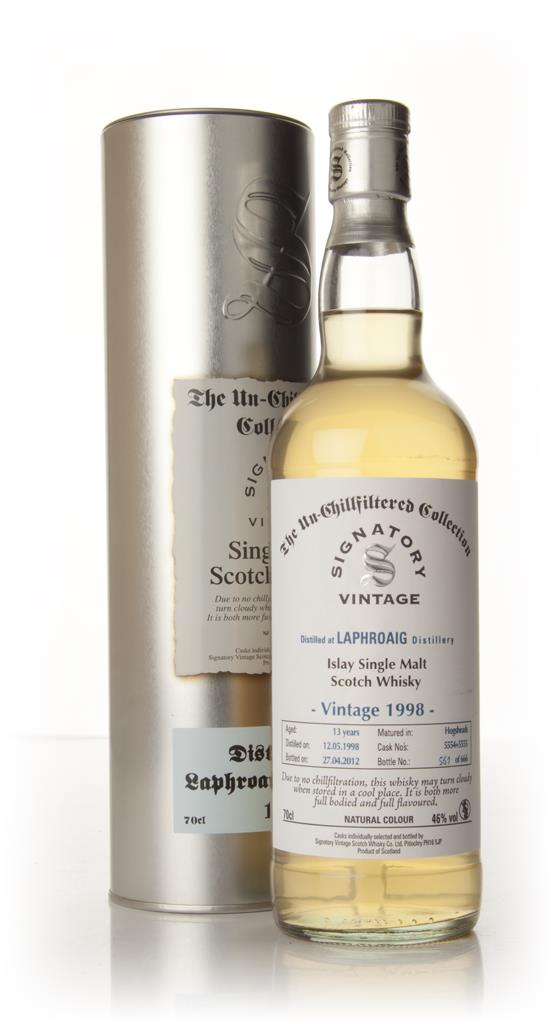 Laphroaig 13 Year Old 1998 - Un-Chillfiltered (Signatory) Single Malt Whisky