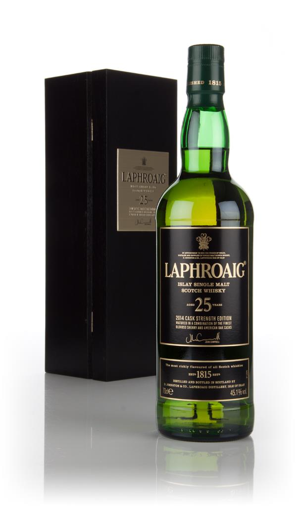 Laphroaig 25 Year Old Cask Strength (2014 Release) Single Malt Whisky