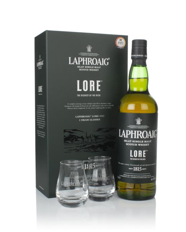 Laphroaig Lore Gift Pack with 2x Glasses Single Malt Whisky