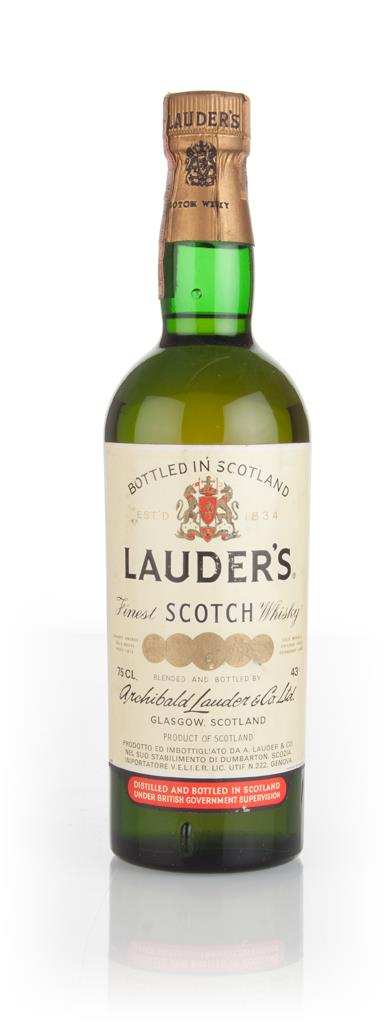Lauders Finest Scotch Whisky - 1960s Blended Whisky