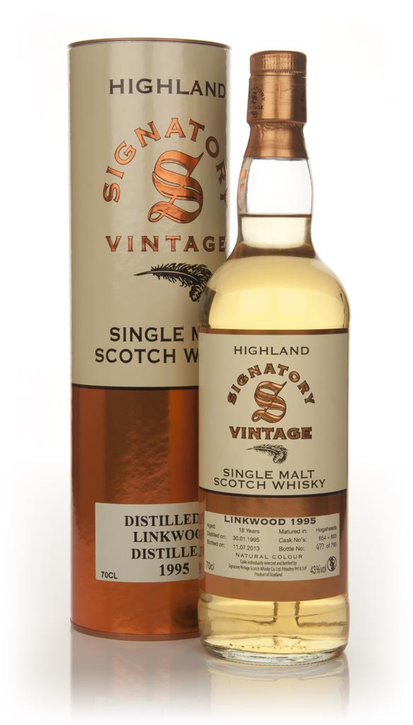 Linkwood 18 Year Old 1995 (casks 654+655) (Signatory) Single Malt Whisky