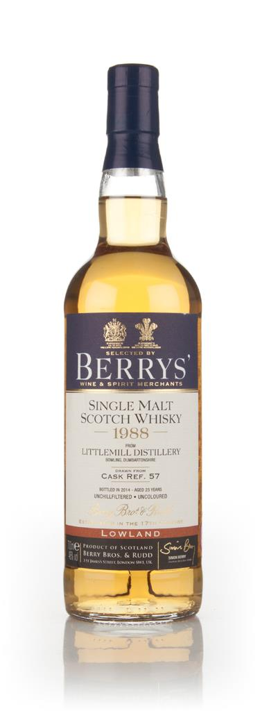 Littlemill 25 Year Old 1988 (cask 57) (Berry Bros. & Rudd) 3cl Sample Single Malt Whisky
