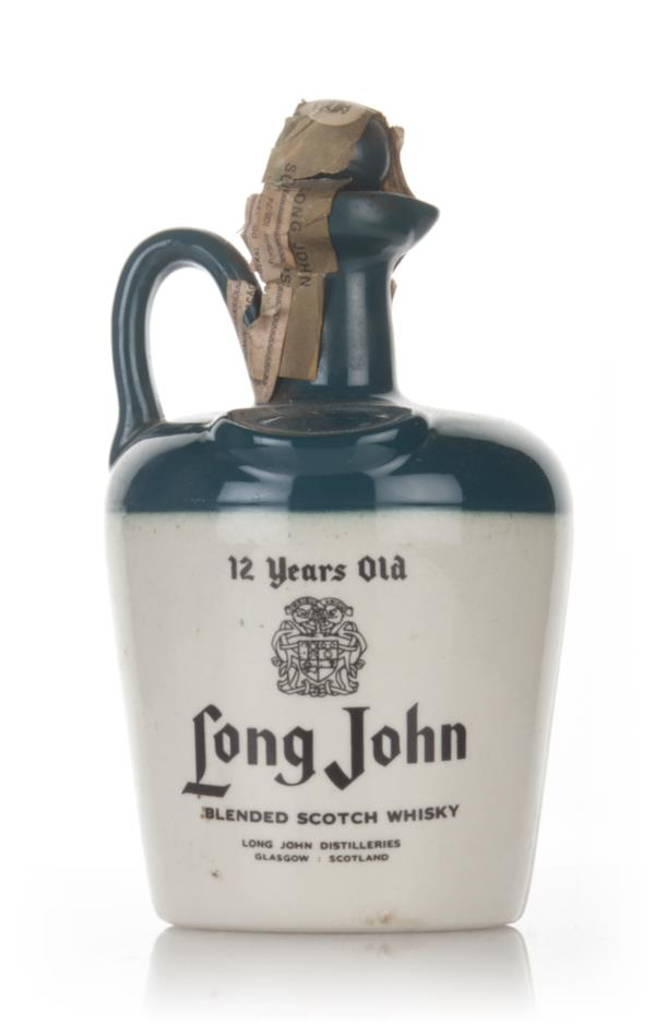 Long John 12 Year Old (Ceramic Jug) - 1970s Blended Whisky