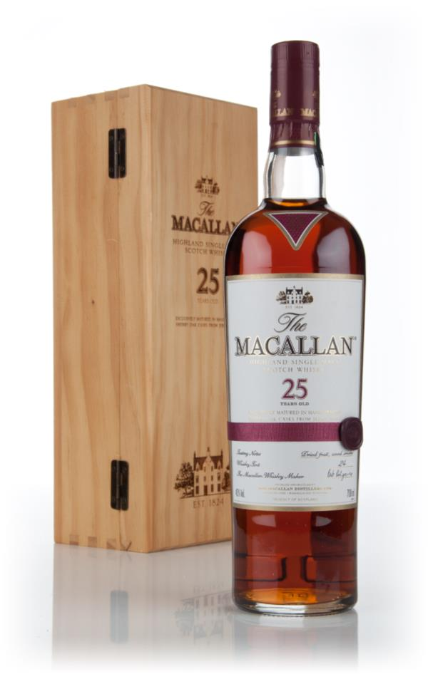 The Macallan 25 Year Old Sherry Oak (Old Bottling) 3cl Sample Single Malt Whisky