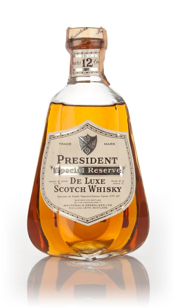 President Special Reserve 12 Year Old - 1970s Blended Whisky