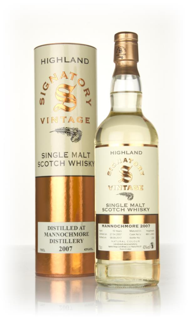 Mannochmore 10 Year Old 2007 (casks 6651 & 6652) - Signatory Single Malt Whisky