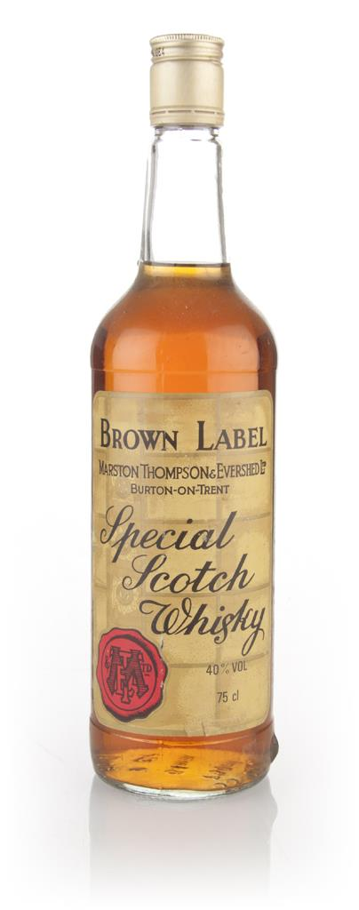 Brown Label Special Scotch Whisky - 1970s Blended Whisky