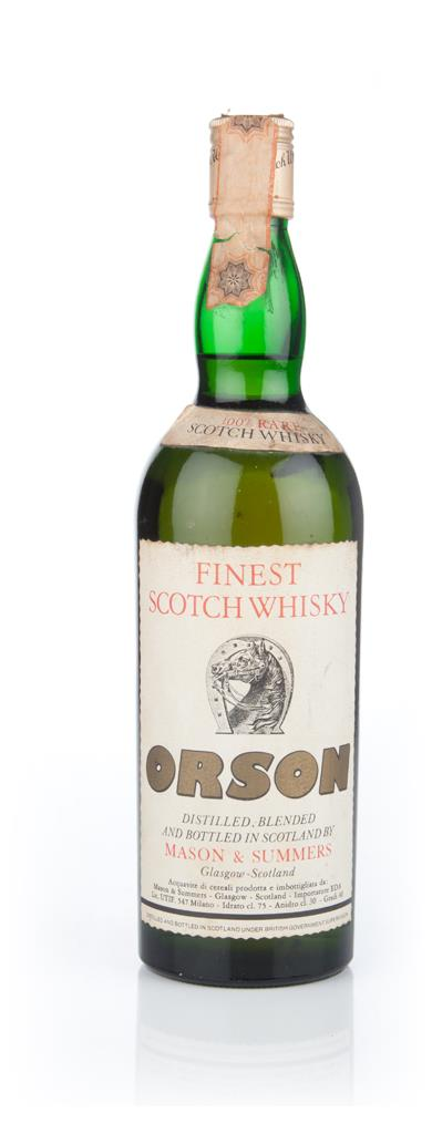 Orson Finest Scotch Whisky - 1970s Blended Whisky