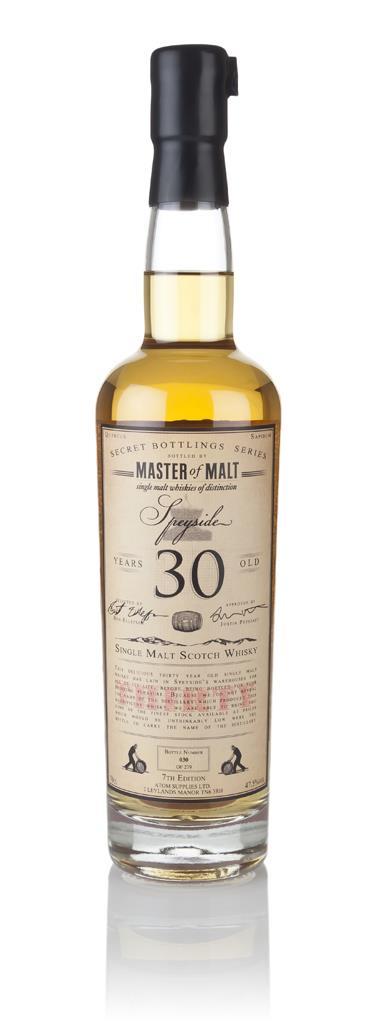 Master of Malt 30 Year Old Speyside (7th Edition) 3cl Sample Single Malt Whisky