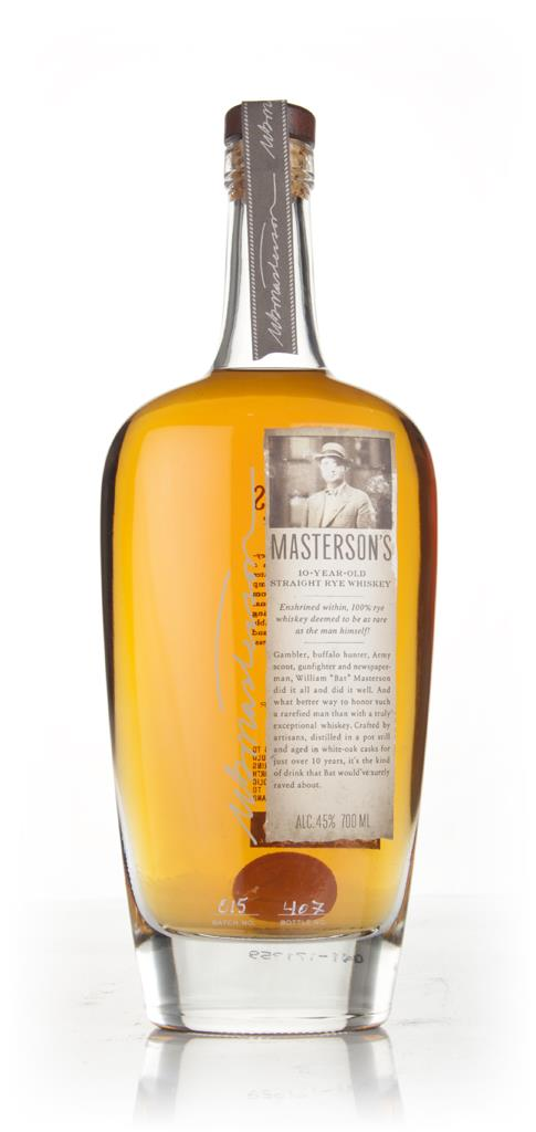 Masterson's 10 Year Old Rye Whisky
