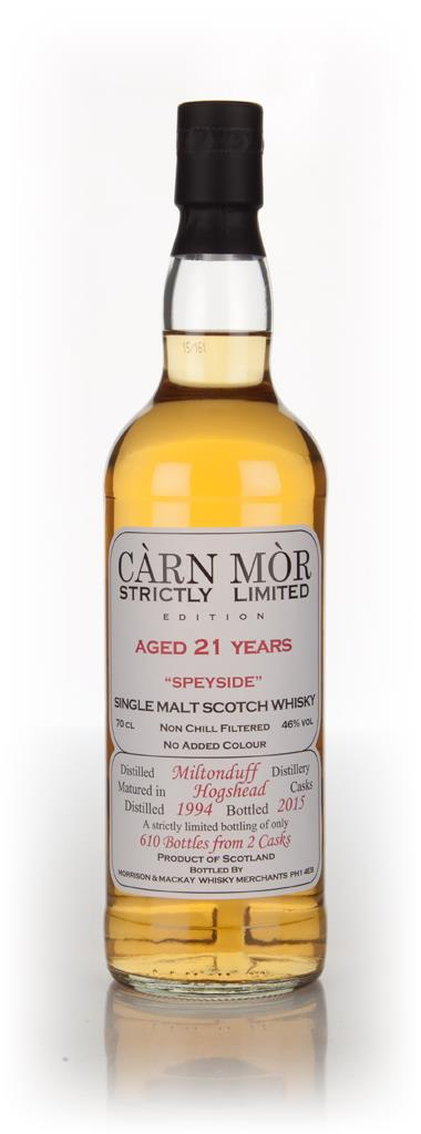 Miltonduff 21 Year Old 1994 - Strictly Limited (Carn Mor) Single Malt Whisky
