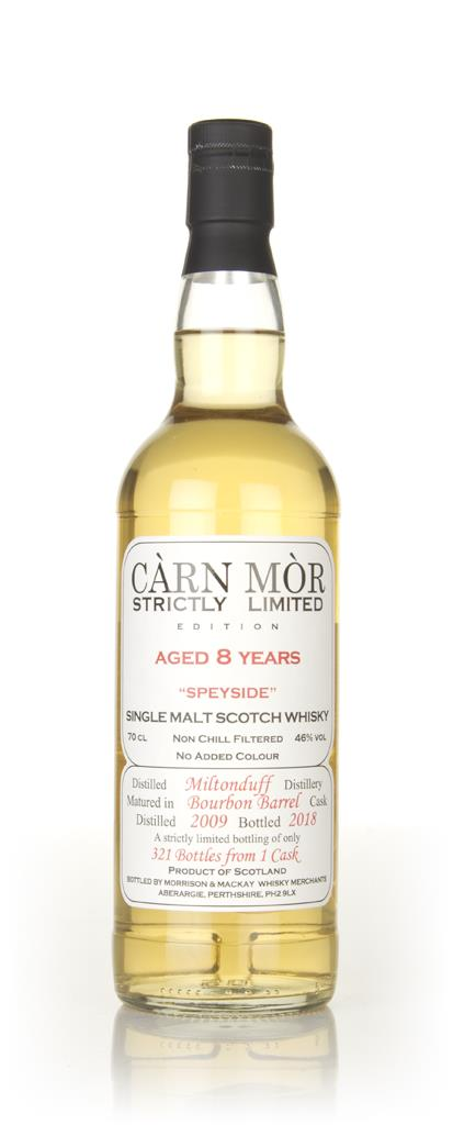 Miltonduff 8 Year Old 2009 - Strictly Limited (Carn Mor) Single Malt Whisky