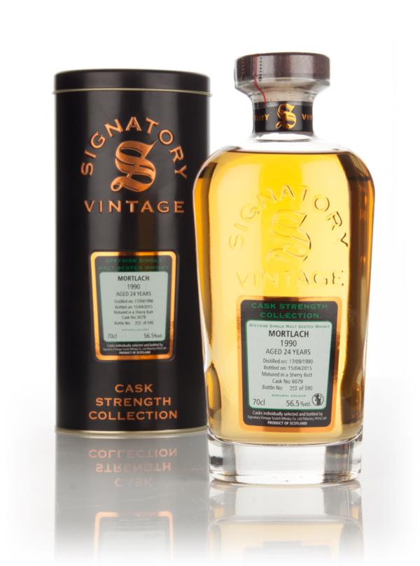 Mortlach 24 Year Old 1990 (cask 6079) - Cask Strength Collection (Sign Single Malt Whisky