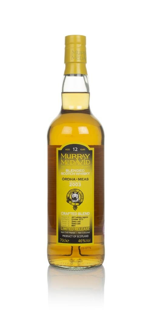 Ordha Meas 12 Year Old 2003 - Crafted Blend (Murray McDavid) Blended Whisky