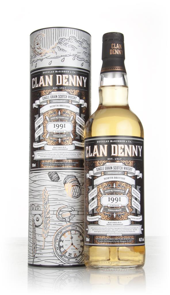 North British 25 Year Old 1991 (cask 12088) - Clan Denny (Douglas Lain Grain Whisky