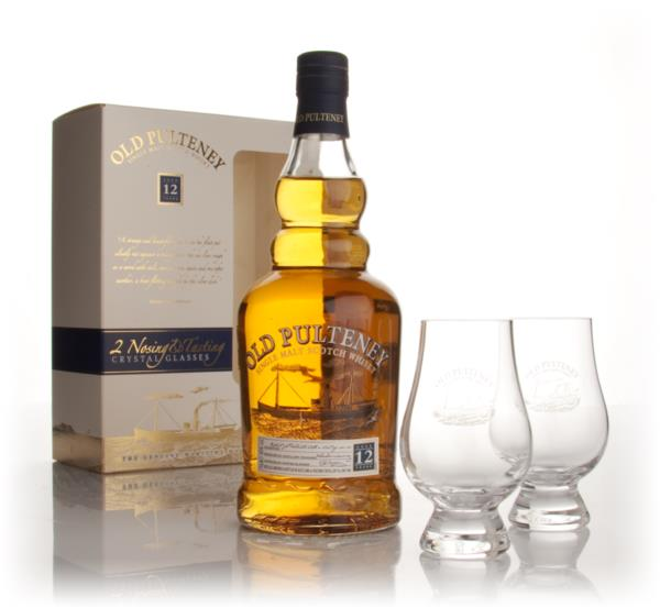 Old Pulteney 12 Year Old with 2x Tasting Glasses Single Malt Whisky
