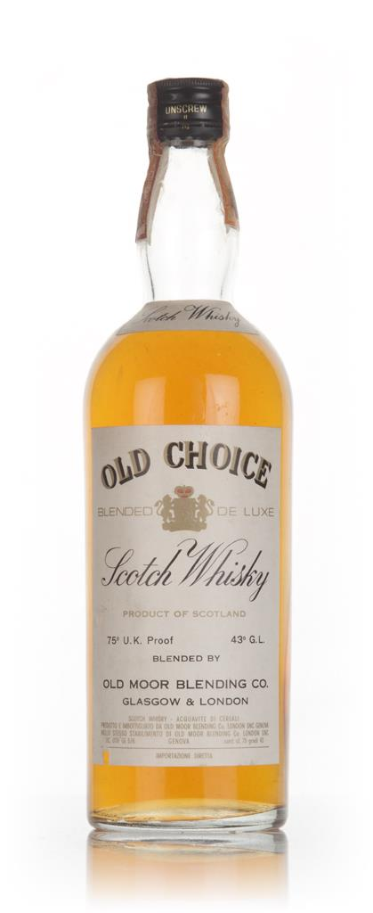 Old Choice Blended De Luxe Scotch Whisky - 1970s Blended Whisky