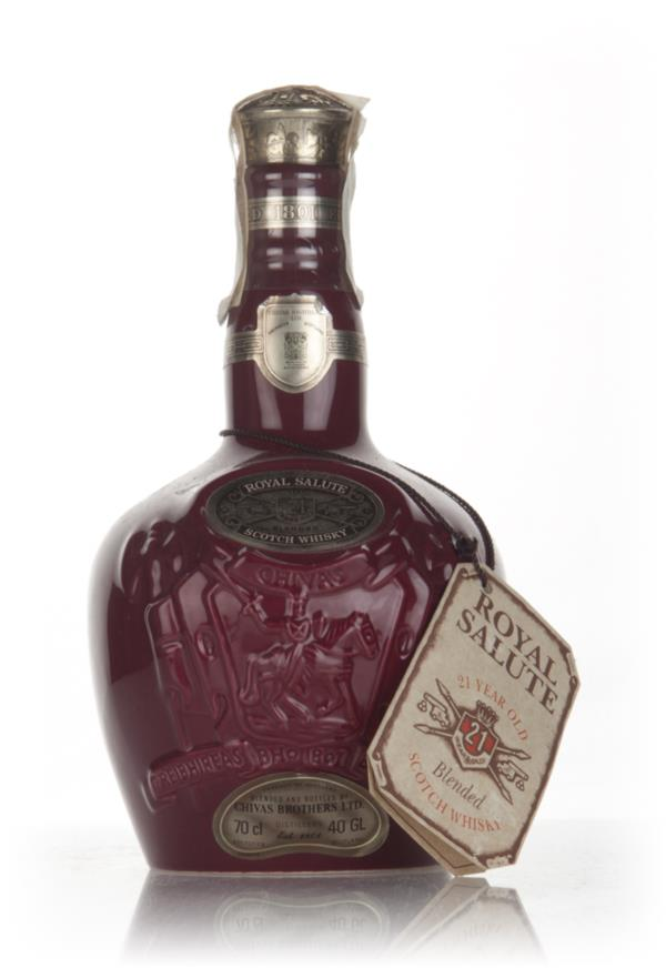 Royal Salute 21 Year Old Ruby Flagon - 1980s Blended Whisky