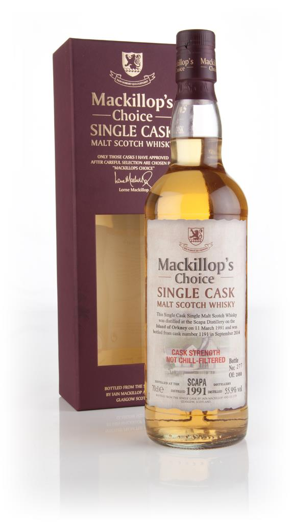 Scapa 23 Year Old 1991 (cask 1191) - Mackillops Choice Single Malt Whisky