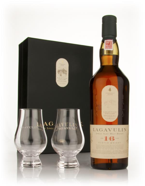 Lagavulin 16 Year old with 2 Glasses Single Malt Whisky