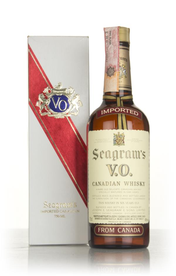 Seagrams V.O. 6 Year Old Canadian Whisky (Boxed) - 1980 Blended Whisky