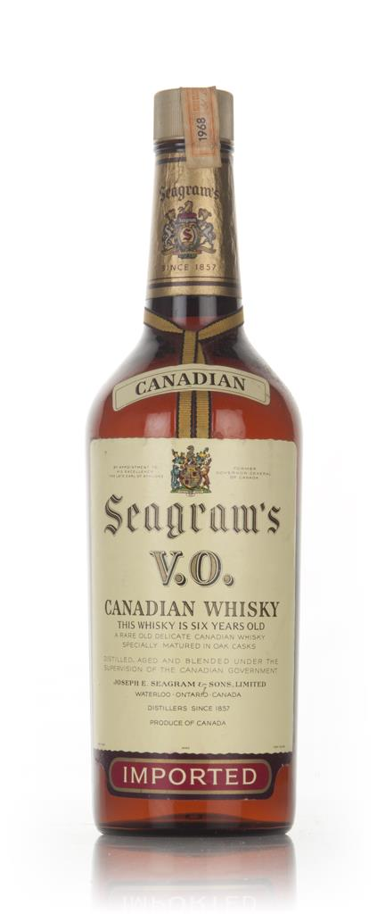 Seagrams V.O. 6 Year Old Canadian Whisky - 1968 Blended Whisky