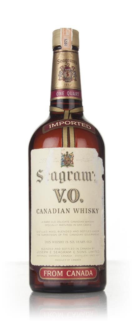 Seagrams V.O. 6 Year Old Canadian Whisky - 1971 Blended Whisky