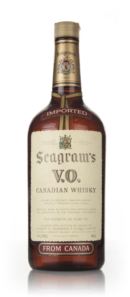 Seagrams V.O. 6 Year Old Canadian Whisky - 1980 Blended Whisky