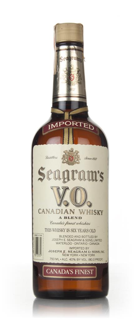 Seagrams V.O. 6 Year Old Canadian Whisky - 1986 Blended Whisky