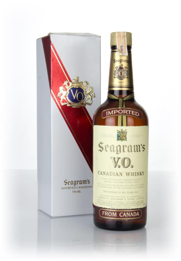 Seagrams V.O. 6 Year Old Canadian Whisky (Boxed) - 1975 Blended Whisky