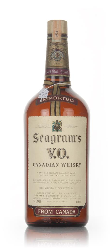 Seagrams V.O. Canadian Whisky (1.14L) - 1975 Blended Whisky