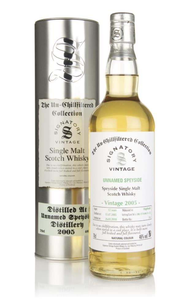 Unnamed Speyside 12 Year Old 2005 - Un-Chillfiltered Collection (Signa Single Malt Whisky