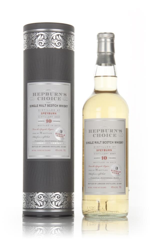 Speyburn 10 Year Old 2007 - Hepburns Choice (Langside) Single Malt Whisky