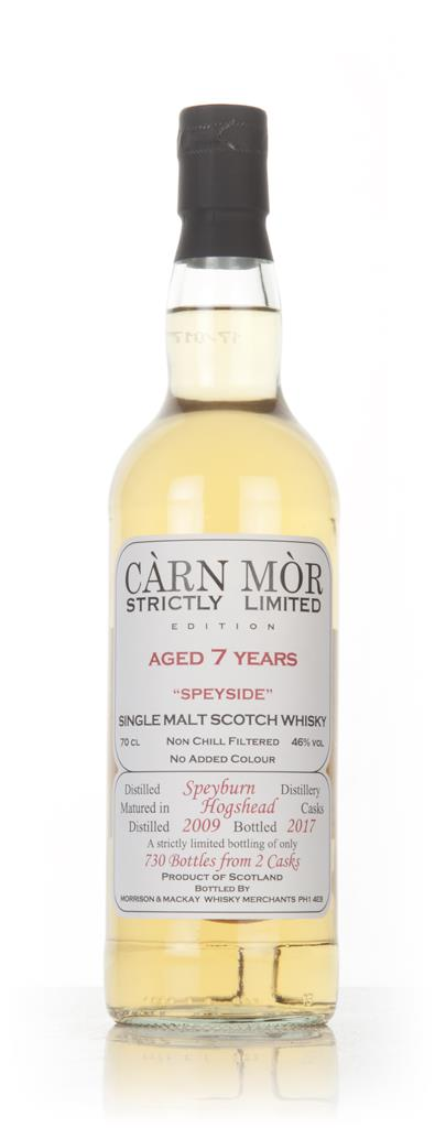 Speyburn 7 Year Old 2009 - Strictly Limited (Carn Mor) Single Malt Whisky