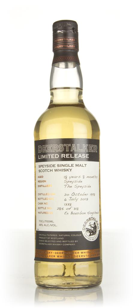 Speyside 18 Year Old 1998 (cask 1338) - Deerstalker Limited Release Single Malt Whisky