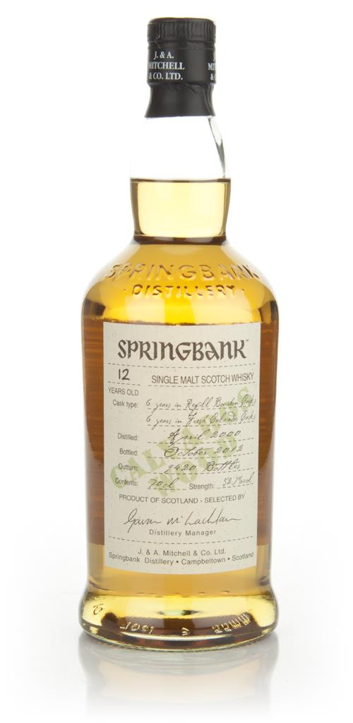 Springbank 12 Year Old Calvados Wood Finish Single Malt Whisky