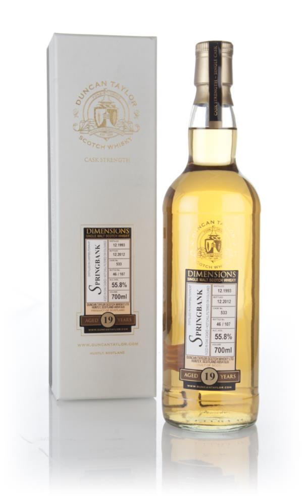 Springbank 19 Year Old 1993 (cask 533) - Dimensions (Duncan Taylor) 3c Single Malt Whisky 3cl Sample
