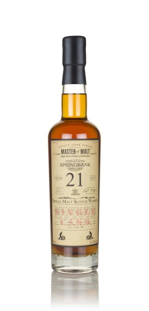 Springbank 21 Year Old 1996 - Single Cask (Master of Malt) Single Malt Whisky
